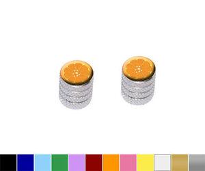 Orange-Slice-Fruit-Motorcycle-Bike-Bicycle-Tire-Rim-Wheel-Valve-Stem-Caps