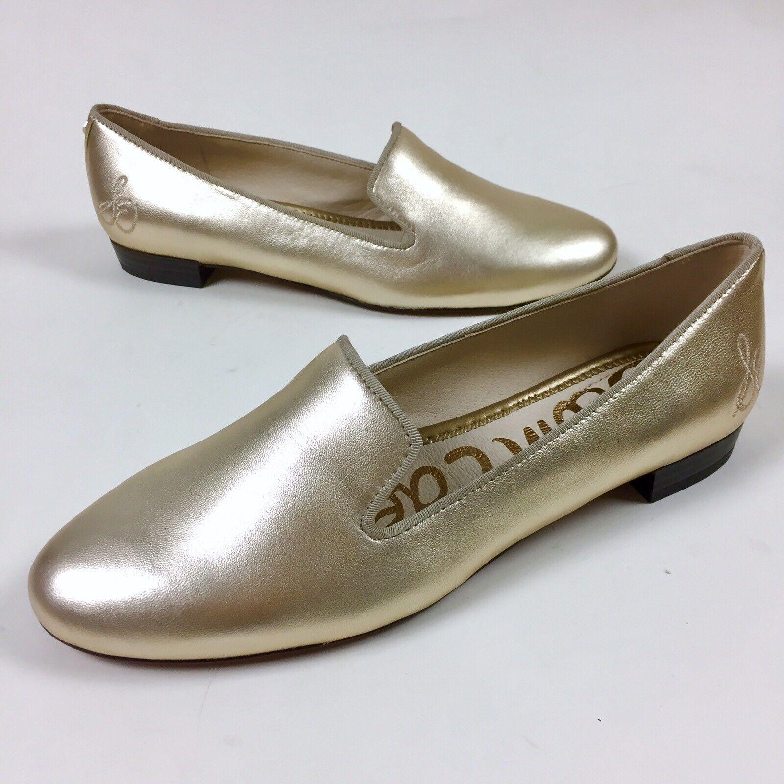 New Sam Edelman donna Butter Soft Soft Soft oro Leather Jordy Loafer Flats scarpe Dimensione 8M a317ad