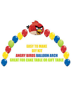 Angry Birds Birthday Party Balloon Arch For Cake Table Gift Table