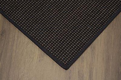 Sisal Teppich umkettelt gemustert ebenholz 250x350cm 100% Sisal schwarz gekettel