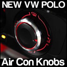 VW POLO aria condizionata A/C Nero e Argento MANOPOLE Riscaldatore quadranti - 3 NUOVO CUSTOM MOD