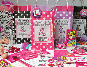 Image Is Loading Hen Party Bag Filled Personalised Gift Bags Favour