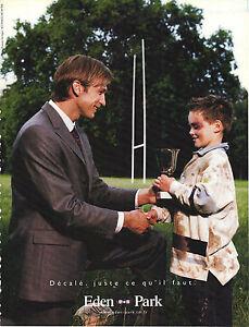 PUBLICITE advertising 2002   EDEN PARK  haute couture pret à porter
