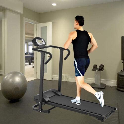 Laufband Heimtrainer Fitnessgerät mit LCD Display Jogging klappbar IH