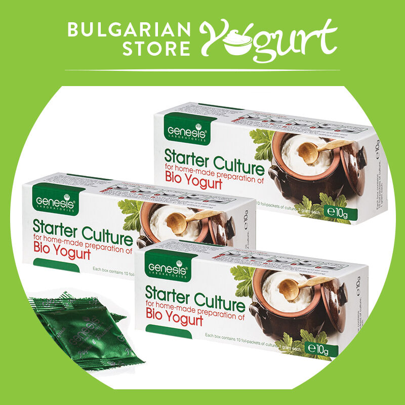 Bio Yogurt starter byGENESIS LABORATORIES LABORATORIES LABORATORIES ,probiotic -3boxes30 sachets 30gr 0b6c52