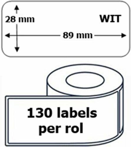 130 Etiketten pro Rolle 10 x Dymo 99010 kompatible Etiketten 89 mm x 28 mm