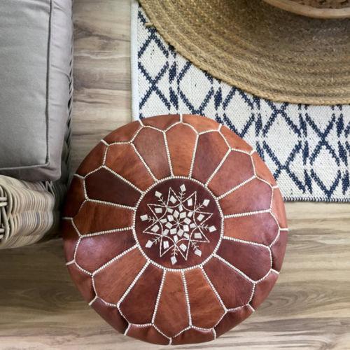 Footstool hight Quality Ottoman Ottoman pouff stool Moroccan Pouf 100/% Leather
