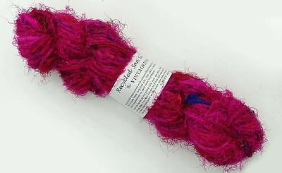 100g Recycled Sari Silk Yarn Hand-spun Red Mix Soft Yarns