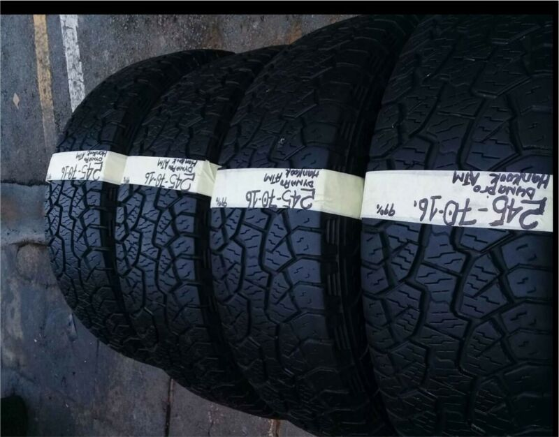Four 245/70/16 Hankook dynapro white wall for sale