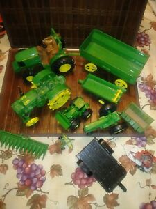 Mixed-Lot-John-Deere-Tractors-amp-Implements-Mostly-Ertl-Mostly-Metal