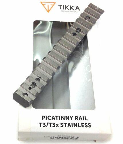 Genuine Tikka T3 / T3X Picatinny Weaver Rail Base Stainless Nightvision