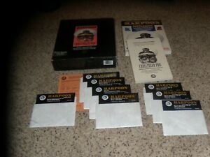 """Harpoon Challenger Pak IBM PC on 5.25"""" disk with box and manuals"""