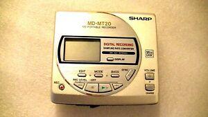 VINTAGE-SHARP-MD-MINIDISC-WALKMAN-RECORDER-model-MD-MT20