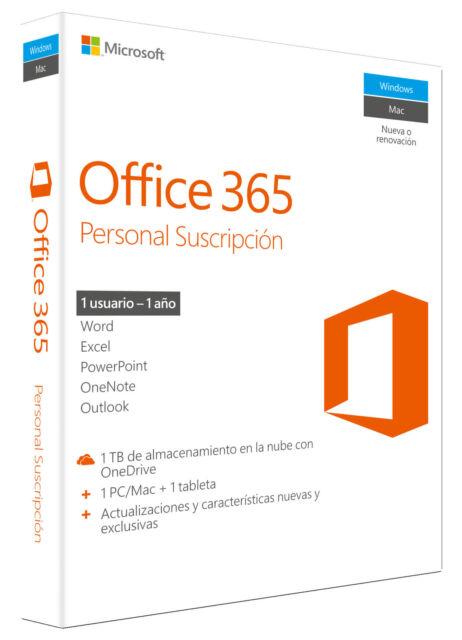 Microsoft Office 365 Personal, 1 año, ESD (Español) (1x PC/MAC)