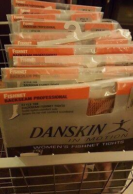 c3e4c32c39cd9d Danskin Fishnet Tights Backseam Professional Style 104 Suntan Size A Women's