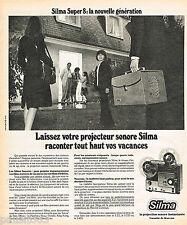 PUBLICITE ADVERTISING 065  1975  SILMA  projecteur sonore SUPER 8