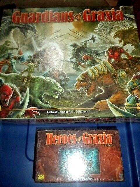 Guardians of Graxia & Heroes of Graxia Board Card Both Games Nuovo