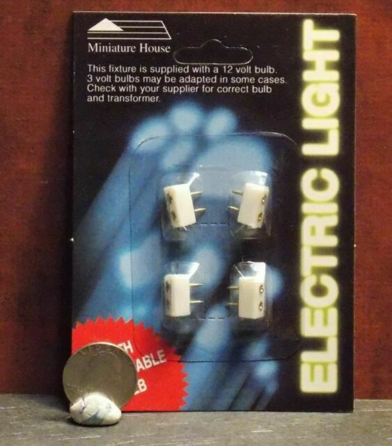 Dollhouse Miniature Electric Pound in Receptacles Set of 4