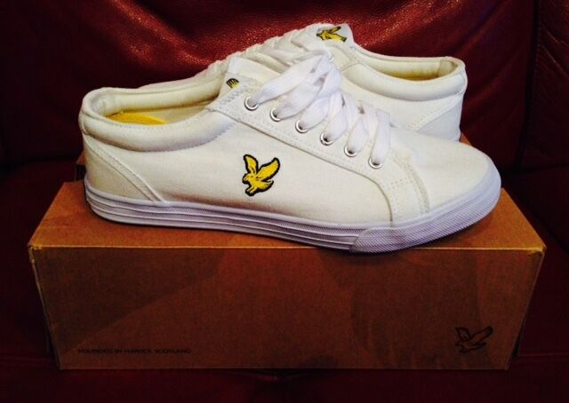 BNIB PUMP LYLE SCOTT FW023V48 Blanco HALKET CANVAS PUMP BNIB Talla 6  50 dd6e8e