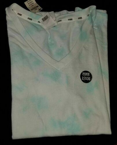 New Victoria/'s Secret Pink short sleeve v-neck night t tee shirt Med u pick colo