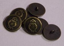 8pc 23mm Tulip and Fern Bronze Metal Blazer Coat Jacket Button   2098