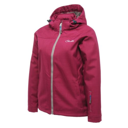 WOMEN/'S DARE 2B CRANK UP PLUM PIE WATERPROOF AND BREATHABLE SOFTSHELL JACKET.