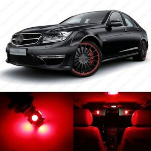 16-x-Red-LED-Interior-Light-Package-For-2008-2013-Mercedes-C-Class-W204