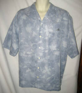 JOCKEY BLUE TROPICAL FLORAL TREES PRINT SHORT SLEEVE SHIRT, XL