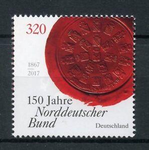 Germania-2017-Gomma-integra-non-linguellato-Confederazione-tedesca-del-Nord-Norddeutscher-Bund-1-V