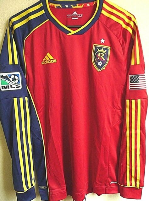 a6f77e94418 L XL adidas MLS Mens Real Salt Lake Soccer Jersey NWT M
