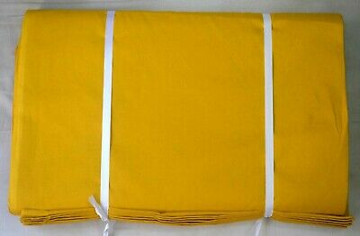 Light Weight Fabric Cotton Voile Sewing Loose Craft Plain Yellow Fabric 1 Yard