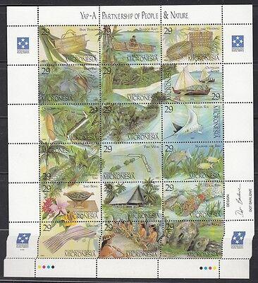 1993 Mensch Und Natur 319-36 Kleinbogen **, Mikronesien 23363 Gute WäRmeerhaltung