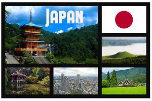 JAPAN SIGHTS - SOUVENIR NOVELTY FRIDGE MAGNET - GIFTS / FLAGS / SIGHTS / NEW