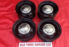 "MOPAR POLICE WHEEL 15X7"" CUDA CHARGER Road Runner GTX DOG DISH CAP RIM Set"