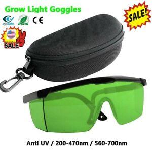UV400 LED Grow Light Room Glasses Ultra Violet Eliminators Indoor Hydroponics XB