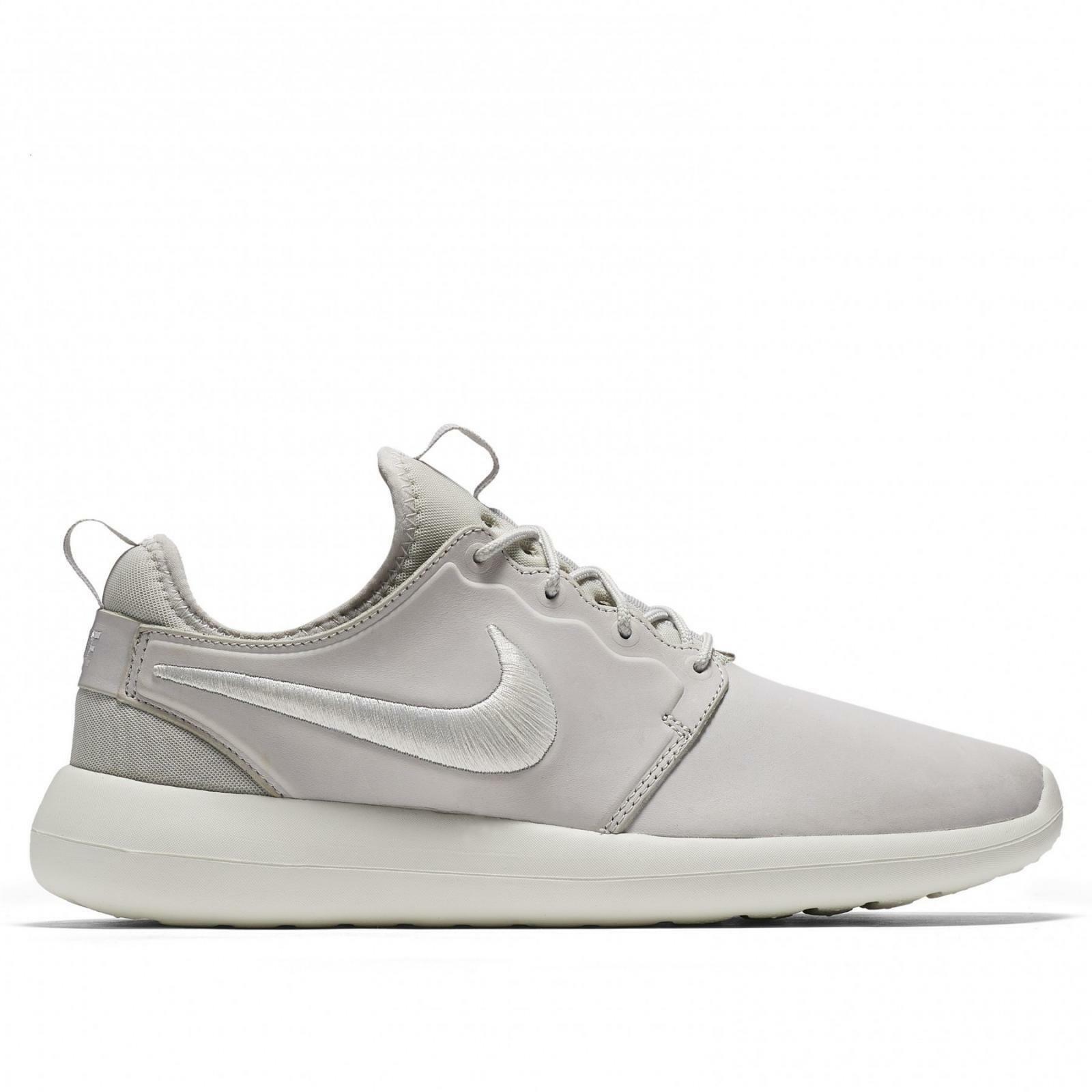 Hommes NIKE NIKELAB ROSHE TWO 100 LEATHER PRM Trainers 876521 100 TWO c100fe