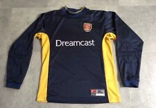 VINTAGE ARSENAL GOALKEEPER SHIRT NIKE GK KIT SIZE XL BOYS CHILDS DREAMCAST VGC