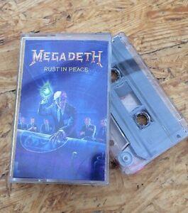 Megadeth-Rust-In-Peace-MC-Kassette-Tape-Sammlung-RARITAT