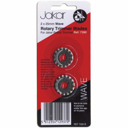 Pack of 2 7392-B Wave Cut Spare Blade 25mm For A4 Rotary Cutter