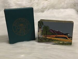 Vintage-Southern-Lines-Pacific-Playing-Cards-Souvenir-Complete-Deck-Train-Cards