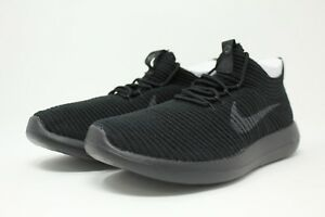 Nike W Roshe Two Flyknit V2   917688 004 Triple Black Women SZ 5 ... d13df848a064
