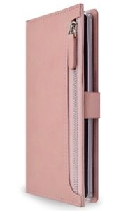 detailed look b10af f802e Details about LG V20 Wallet Case Leather Folio Zipper Pocket Card Slots  Perfect Fit Rose Gold