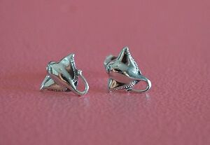 925-Sterling-Silver-Marine-Ocean-Stingray-Earrings-Post-Stud-Stingray-Earrings