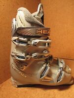 Head Edge Hf L Grey Womens Snow Ski Boots Mondo 23.5 6.5 Womens