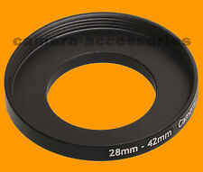 28mm to 42mm 28-42 Stepping Step Up Filter Ring Adapter 28-42mm 28mm-42mm M to F