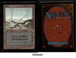 MRM-ENGLISH-Swamp-Version-1-Ex-MTG-magic-ALPHA-SWA01LEA