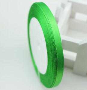 Free-Shipping-wedding-festival-25-Yards-1-4-6mm-Craft-Satin-Ribbon-AQ17