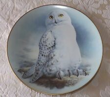 LIMOGES COLLECTORS PLATE  'THE SNOWY OWL'