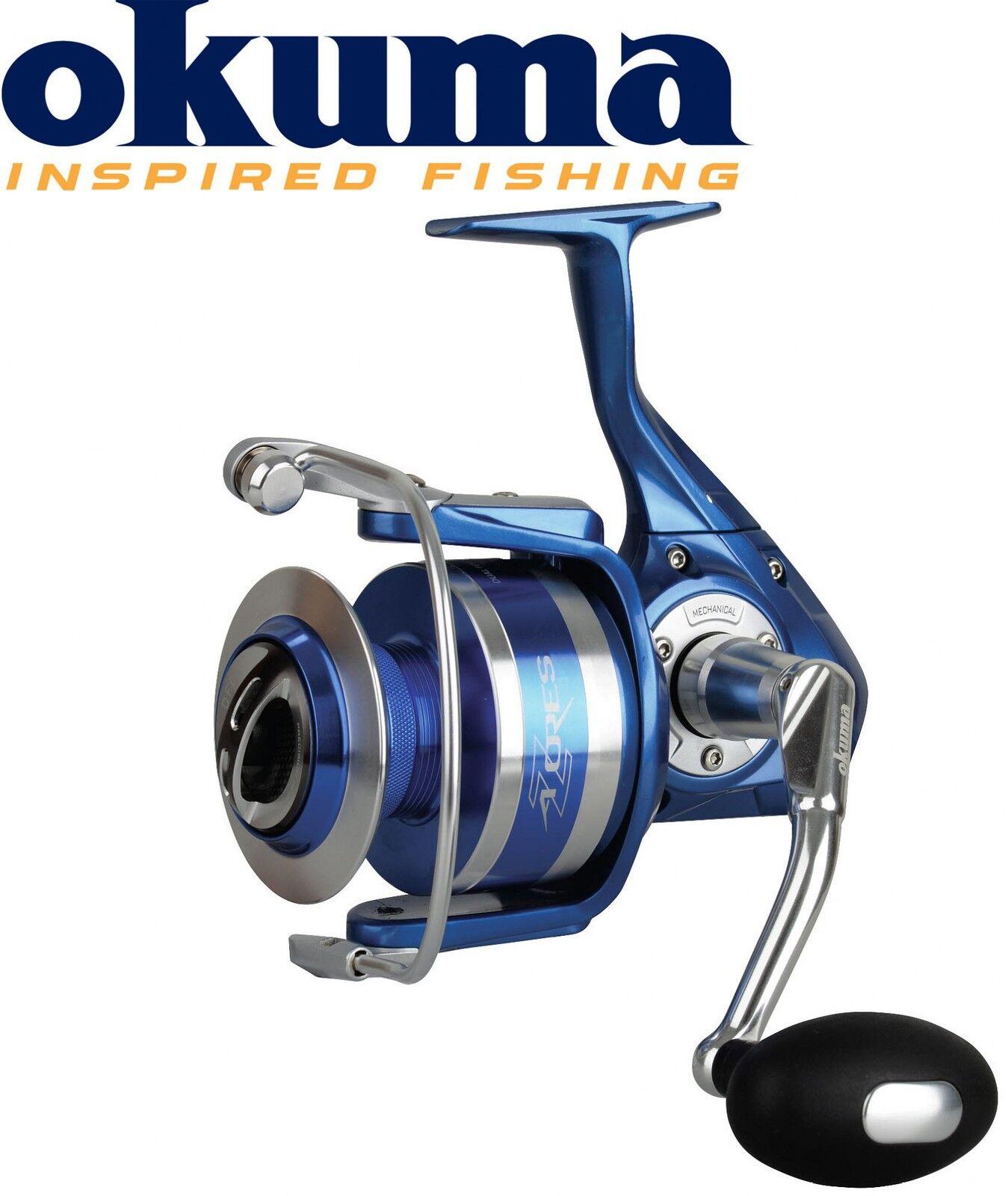 Okuma Azores S-8000 Meeresrolle 310m 0,45mm Schnurfassung, Angelrolle fürs Meer