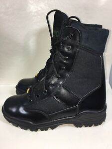 NWT-Rhino-83C01-Soft-Toe-8-034-Lace-Up-Black-Leather-Work-Boots-Size-6